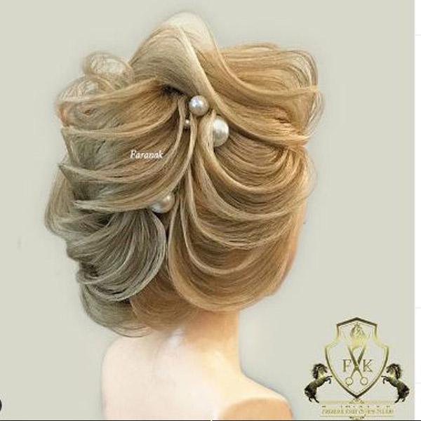 شینیون موی کم حجم برای عروسی