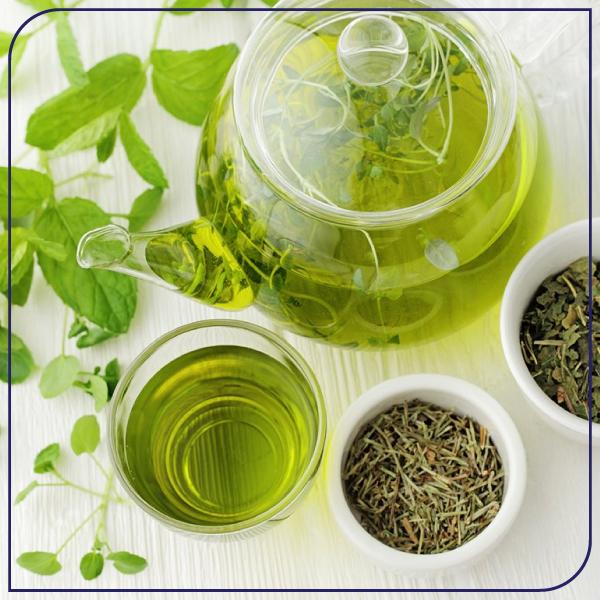 درمان منافذ باز پوست با چای سبز