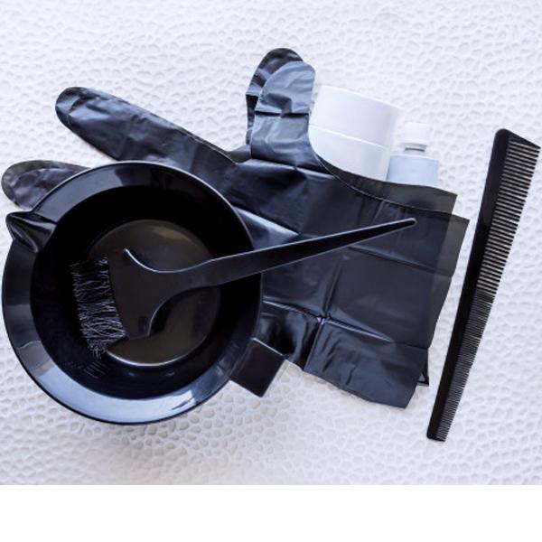 ابزارا و وسایل مورد نیاز رنگ کردن مو در خانه