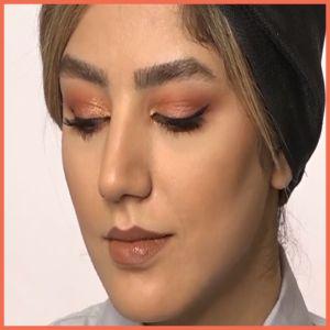 آموزش آرایش چشم پاییزی  آموزش سایه چشم پاییزی