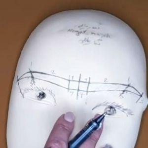 آموزش طراحی ابرو قبل از هاشور زدن ابرو | فیلم آموزش قرینه سازی ابرو