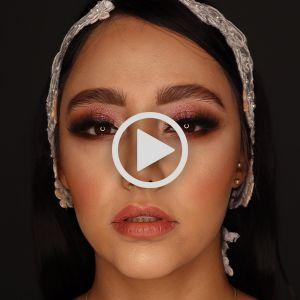 آموزش آرایش صورت برای عروسی | فیلم آموزش آرایش صورت  مجلسی شیک شاین دار