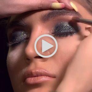 فیلم آموزش آرایش سایه چشم شاین اکلیلی | آموزش مدل آرایش چشم شاین دار