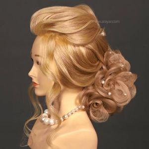 آموزش شینیون مو با موی اضافه | آموزش شینیون مرحله به مرحله