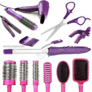ابزار مورد نیاز برای شینیون مو | انواع وسایل شینیون مو