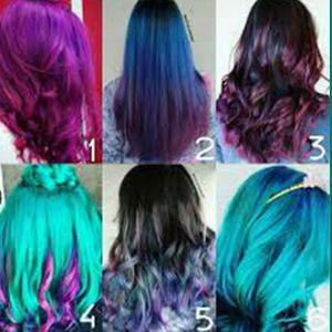 آموزش رنگ مو فانتزی بدون دکلره | روش استفاده از رنگ مو فانتزی