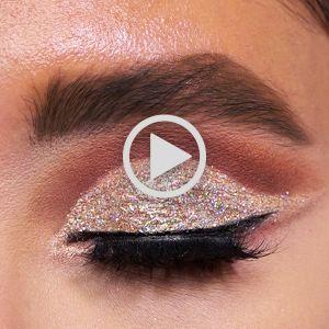 آموزش میکاپ شاین دار و اکلیلی | فیلم آموزش آرایش چشم  با سایه شاین دار