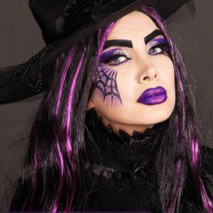 فیلم آموزش میکاپ هالووین ترسناک مدل گریم جادوگر عنکبوتی