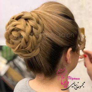 انواع مدل های شینیون موی کوتاه | عکس مدل شینیون موی کوتاه