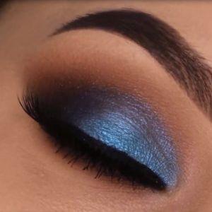 مدل آرایش چشم جدید با سایه آبی | میکاپ با سایه رنگی