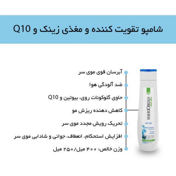 شامپو تقویت کننده موی سر زینک Q10