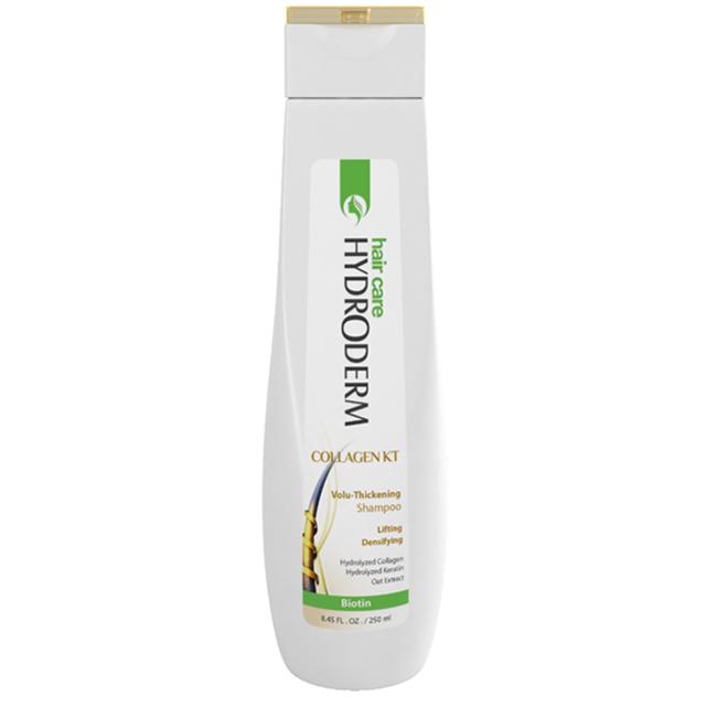 شامپو حجم دشامپو حجم دهنده موی سر کلاژن کراتین هیدرودرمهنده و ضخیم کننده مو هیدرودرم حاوی کلاژن و کراتین 250 و 400 میل