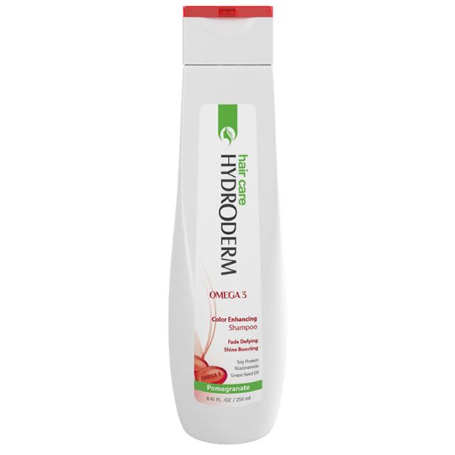 شامپو تثبیت کننده رنگ مو حاوی امگا 3 هیدرودرم در دو حجم 250 و 400 میل