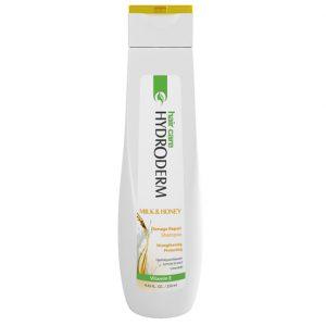 شامپو استحکام بخش و ترمیم کننده مو هیدرودرم مدل شیر و عسل حجم 250 و 400 میل