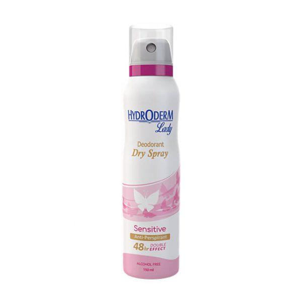 اسپری دئورانت و ضد عرق بانوان هیدرودرم مناسب پوست حساس