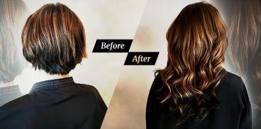 اکستنشن مو طبیعی رایگان
