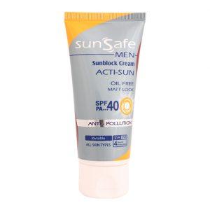 کرم ضد آفتاب فاقد چربی آقایان