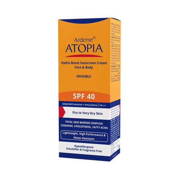 کرم ضد آفتاب SPF40 مرطوب کننده آردن آتوپیا