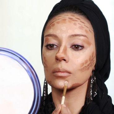 آموزش تصویری آرایش صورت درخانه