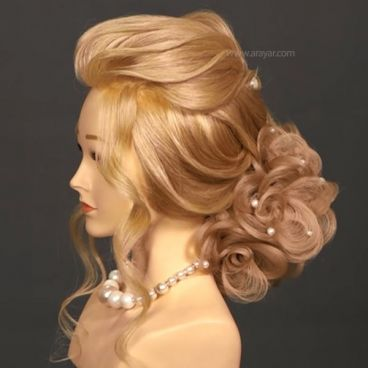 آموزش شینیون مو با موی اضافه