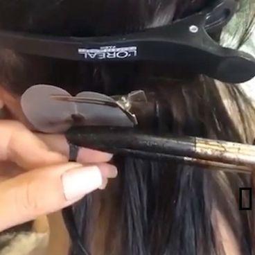 اکستنشن موی حرفه ای روی سر بدون مو