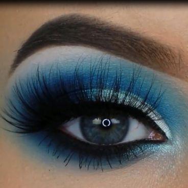فیلم آموزش آرایش چشم با سایه آبی