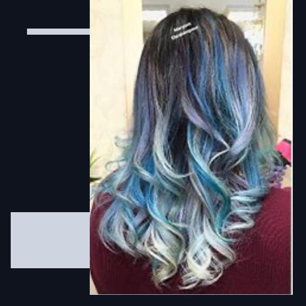 رنگ-مو-بدون-دکلره-آبی