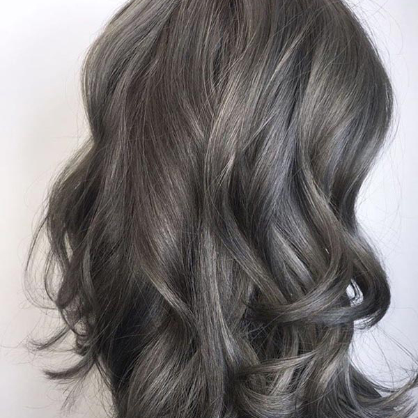 فرمول ترکیب رنگ موی دودی بدون دکلره