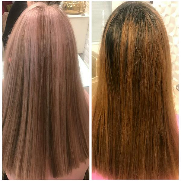 آموزش رنگ مو در آموزشگاه  نقره نگار