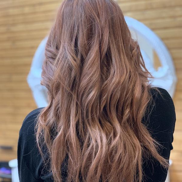 ترکیب رنگ موی بدون دکلره در آرایشگاه اندرزگو