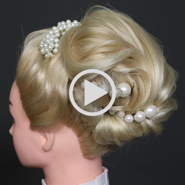 فیلم آموزشگاه مدل شینیون عروس در سالن زیبایی نقره نگار