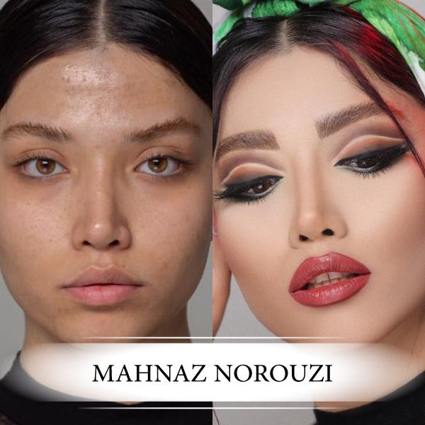 عکس میکاپ صورت قبل و بعد