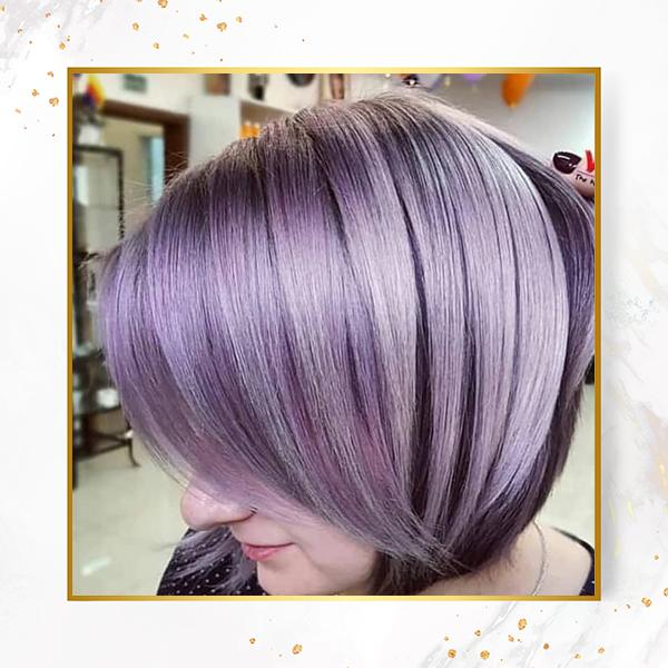 رنگ مو بنفش یاسی