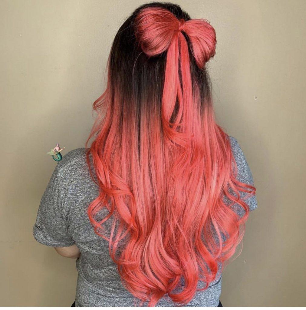 رنگ مو فانتزی مرجانی