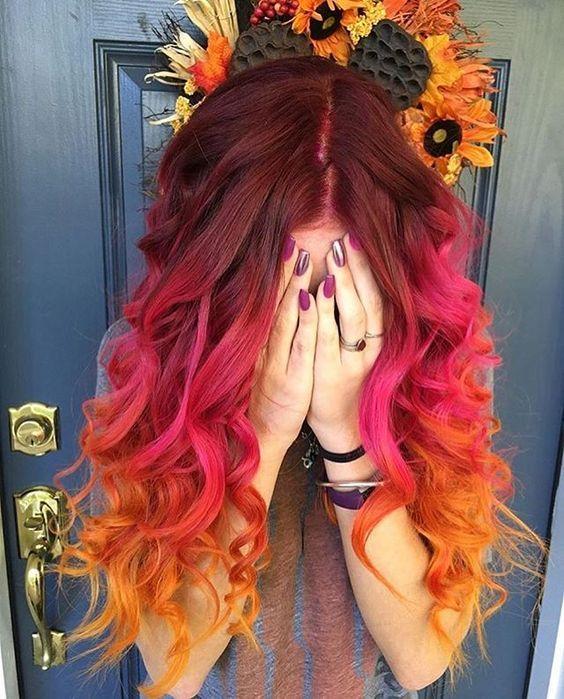 رنگ مو فانتزی قرمز آتشین