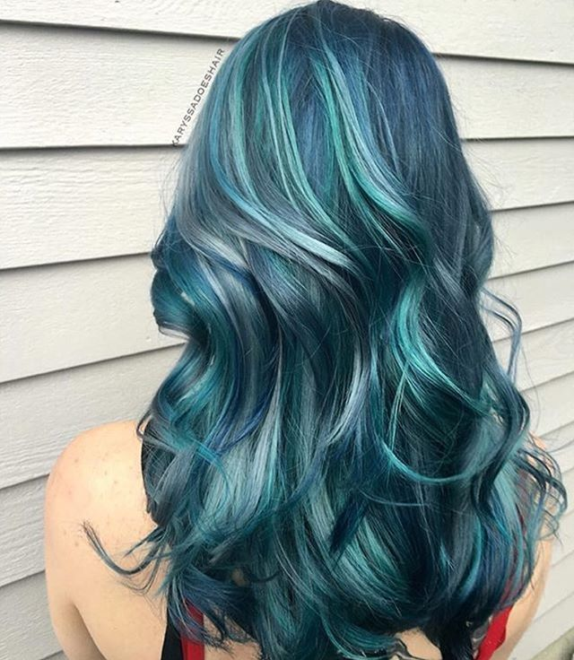 رنگ مو فانتزی آبی اقیانوس