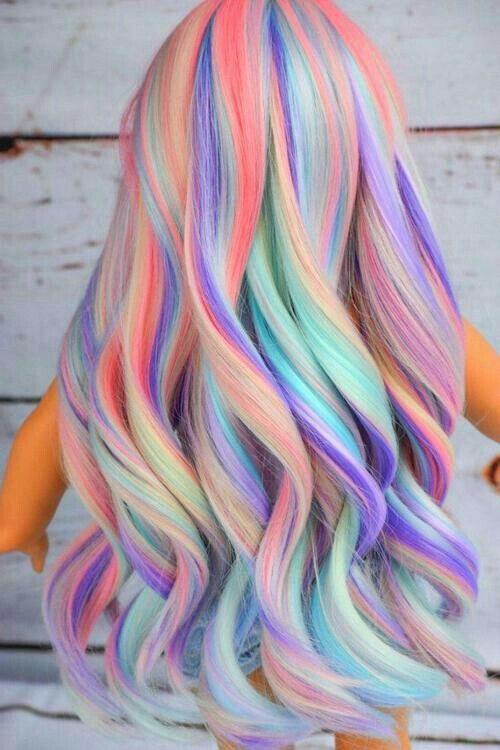 رنگ مو فانتزی رنگین کمانی پاستلی