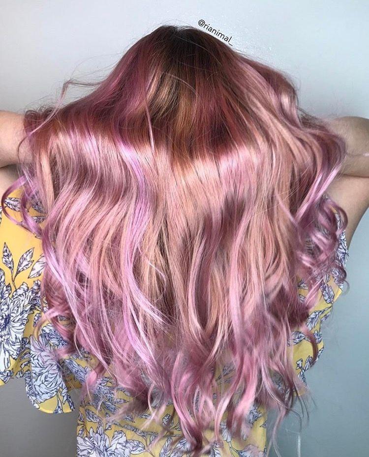 رنگ مو فانتزی رزگلد