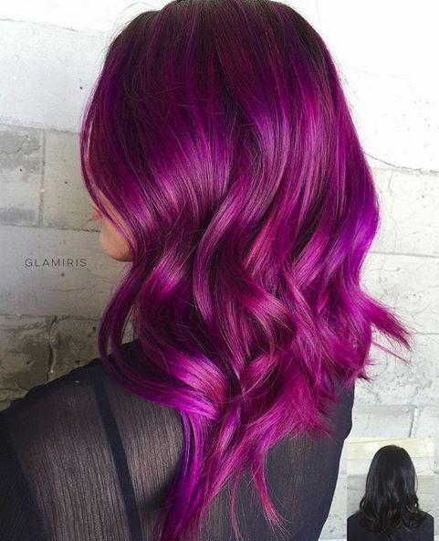 رنگ مو فانتزی بنفش بادمجانی