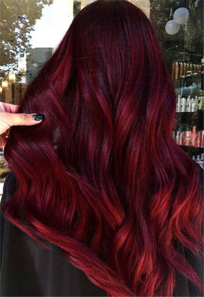 رنگ مو فانتزی شرابی