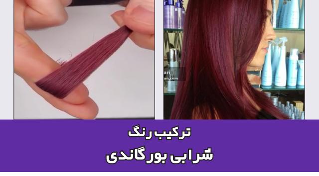 آموزش ترکیب رنگ مو شرابی بنفش