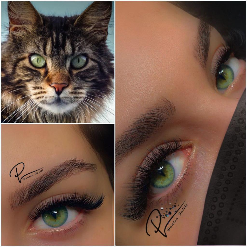اکستنشن-مژه-گربه-ای