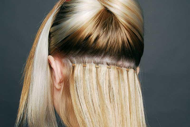 اکستنشن مو با رینگ